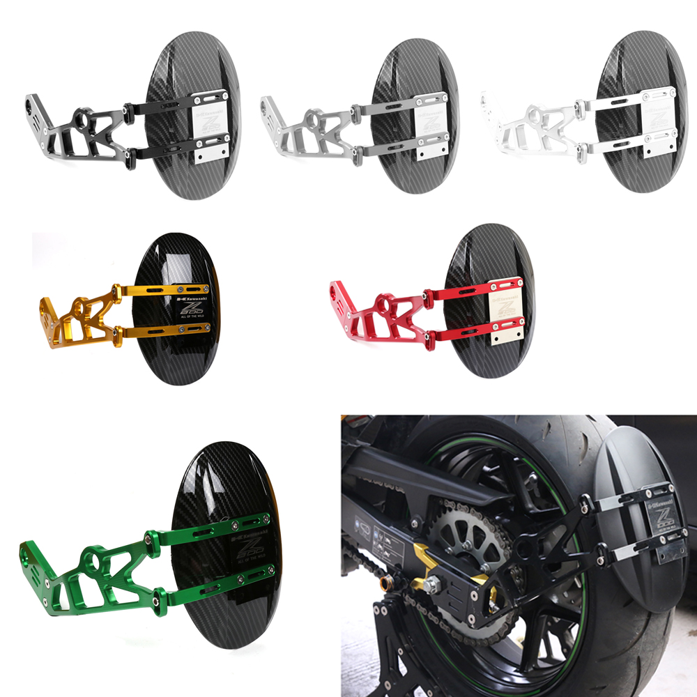 Rear Fender Cover Wheel Tire Bracket Mudguard Rear Splash Mud Dust Guard Fender Shield Carbon For Kawasaki Z 800 2013-2016 cnc aluminum rear wheel tire fender mudguard block for honda msx125 2013 2015 motorcycle rear fender