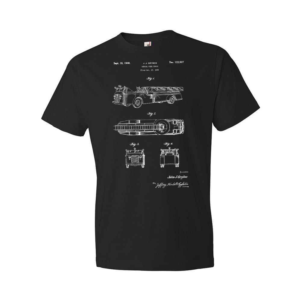 Модные футболки 2019 года, футболка с воздушным пожарным автомобилем, рубашка пожарного, рубашка пожарного, футболка пожарного, подарок, Мужская футболка с вырезом лодочкой