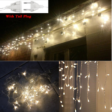 1X Connectable 5M led curtain icicle string lights led fairy lights Christmas lamps Icicle Lights Xmas Wedding Party Decoration