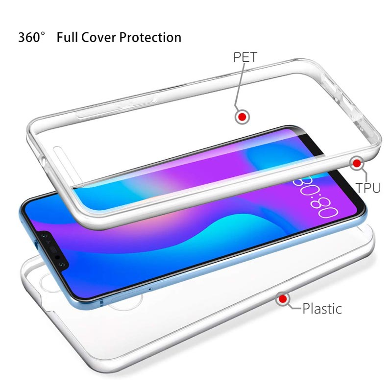 <font><b>360</b></font> PC + TPU Full Cover <font><b>Case</b></font> For <font><b>Huawei</b></font> Honor 7A 7C Pro 8X Aum-l41 Y5 Y6 Prime 2018 P20 P30 Lite Pro Nova 3 3i Y6 <font><b>Y7</b></font> Y9 Pro <font><b>2019</b></font> image