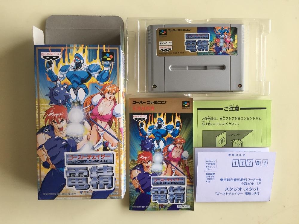 16Bit Games ** Ghost Chaser Densei ( Japan NTSC-J Version!! Box+Manual+Cartridge!! ) 16bit games dragon ball z la legende saien french pal version box manual cartridge