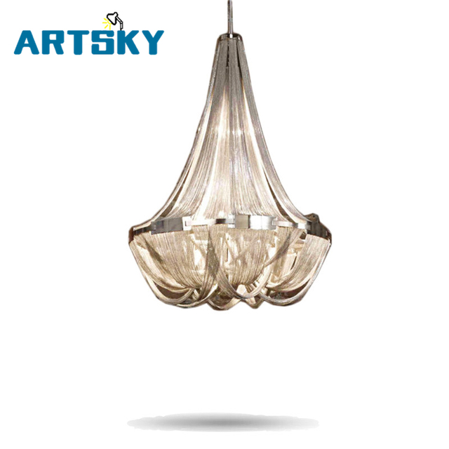 7eb424ac3f Real Rushed Shadeless Down Led Chandelier Lustres French Empire Chain Chandelier  Light Fixture Flush Mounted Lamp Mcp0540