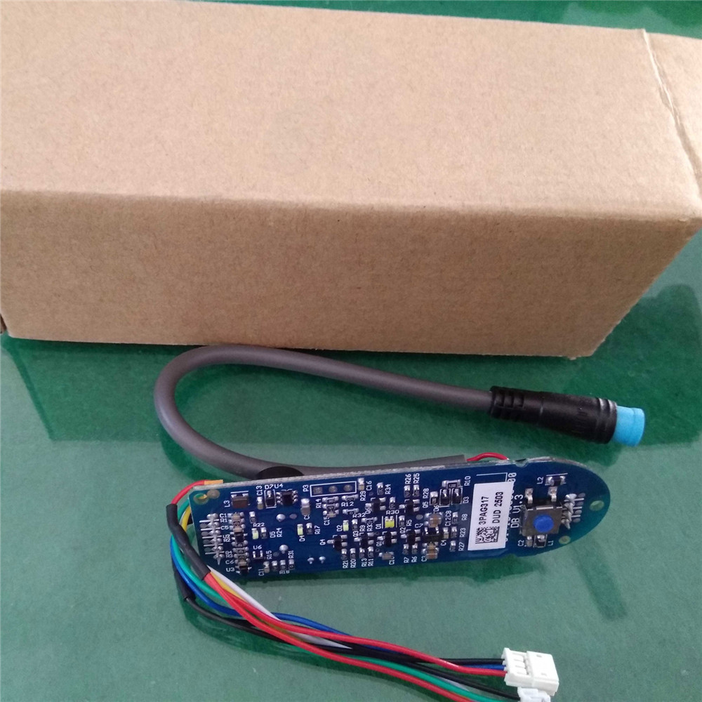 Replacement Dashboard for XIAOMI MIJIA M365 Scooter Circuit Board Dashboard Cover Scooters Skateboard Repair Parts Accessories new bt instrument circuit board scooter mainboard dashboard controller skateboard parts for xiaomi mijia m365 electric scooter