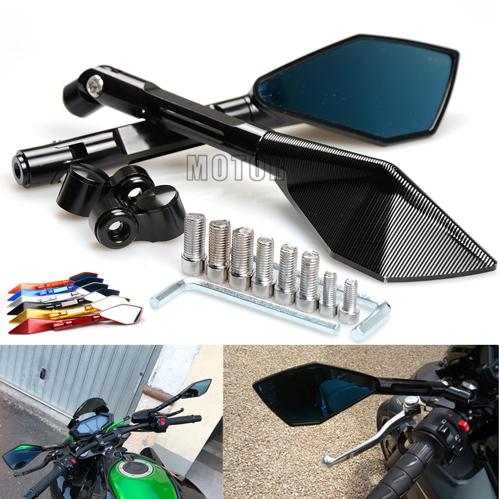 US $32 2 20% OFF|For Kawasaki Ninja ZX6R ZX10R Z650 Z900 Z900RS Z800 Z1000  ER6N CNC Aluminum Universal Motorcycle Rearview Rear View Side Mirrors-in
