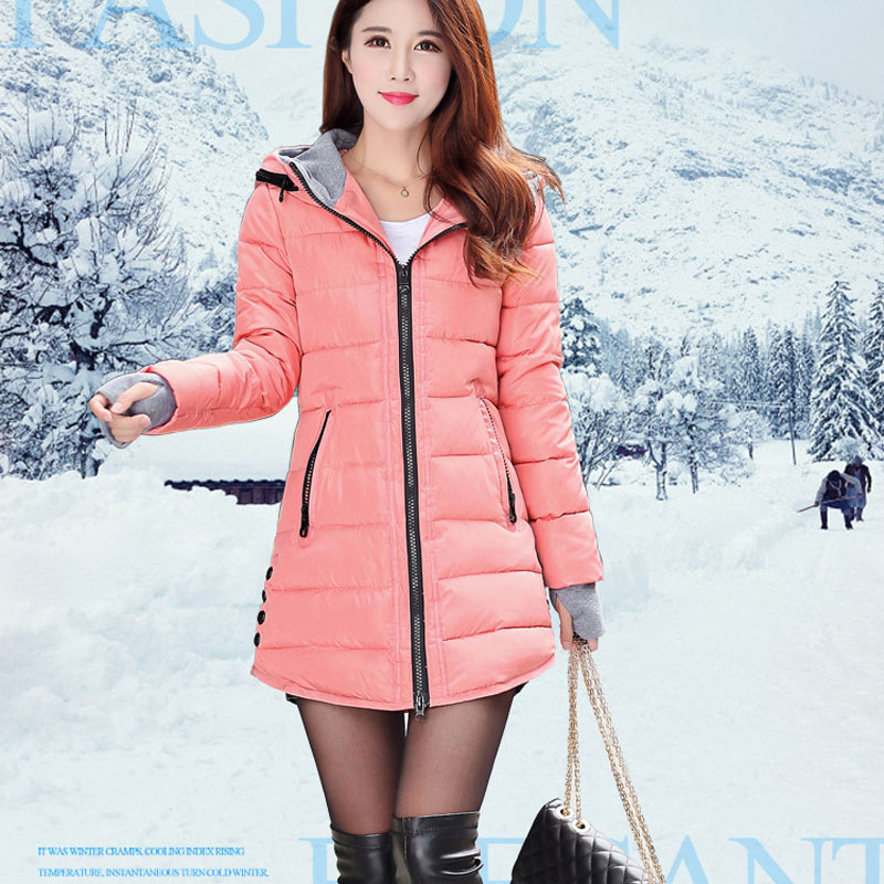 2017 The New Ms. Warm Winter Coat Hooded Cotton Jacket Cotton Jacket Plus Size Basic Size Coat Casa Marcos Fei Minuo marcos