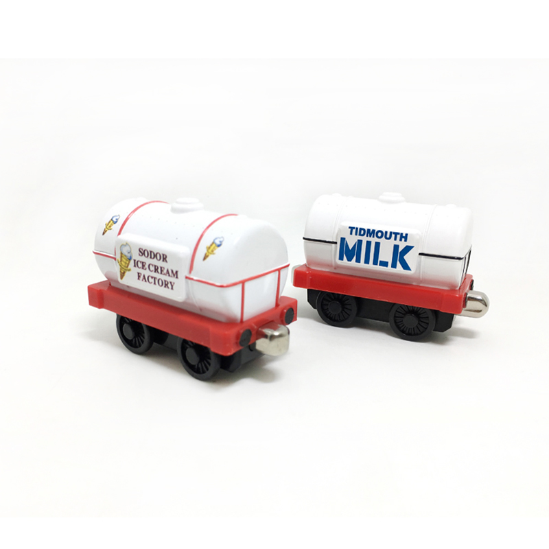 T0150 Diecast Metal magnetic Thomas and friends children kids Magnetic toy milk and sodor ice cream factory tank truck