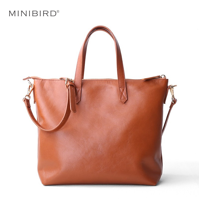 Women s Casual Tote Luxury Cownhide Genuine Leather Handbag Lady Zipper Shoulder