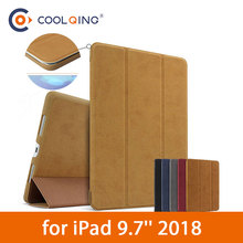 BGR Original Tablets Case For iPad 2018 9.7 Smart Wake-up Sleep Ultra-thin Stand Folding PU Leather Cover Pouch Tablet 9.7 Case
