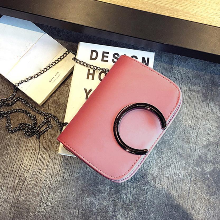 Модные женские Искусственная кожа Сумка Lady чистый цвет цепи небольшой площади сумка телефон сумка # F
