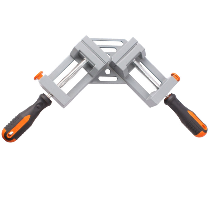 double handle 90 degrees angle clamp right angle woodworking frame clamp angle clip clamp aluminum alloy