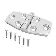 Durable Strong Strap Door Hinge & Mounting Screws – 316 Stainless Steel Boat Hatch Locker Cabinet Deck Hardware