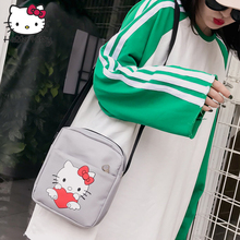 Hello Kitty Backpack Shoulder Fashion New Style Girls Bags Shopping Canvas Kids School Plush Wallet SmallMessenger