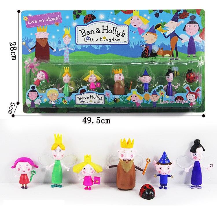 7pcs/set Ben and Holly Little Kingdom Anime Figures toys Oyuncak Anime 5-9CM Cartoon toys Child gift toys for Children christmas