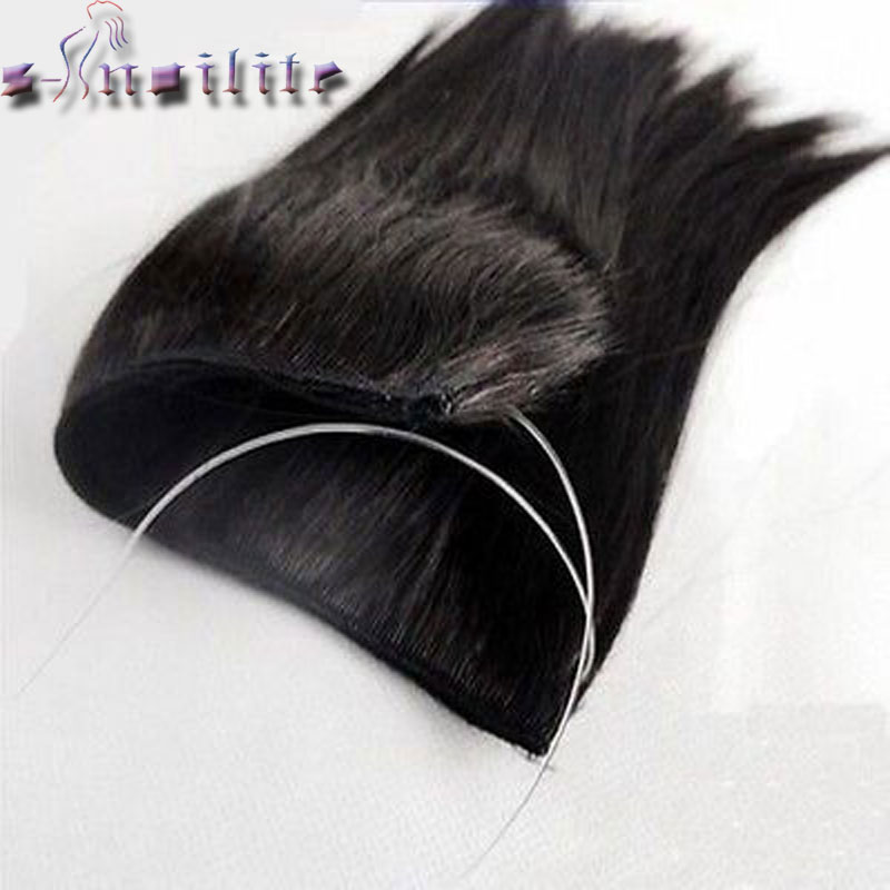 Synthetic Invisible Hairpieces Wavy 3