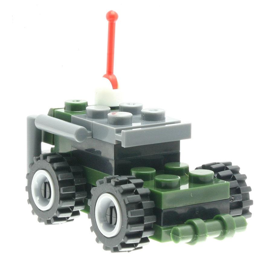 25Pcs/set Bulletproof Armed Vehicle Model Constructor Designer Toys For Kids Model Building Sets Compatible All Brands DT0113