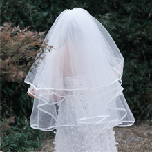 In Stock Wholesale Short Wedding Veils With Comb Width 3M Gather Big Bridal White Ivory Women Voile Mariage Veli Da Sposa