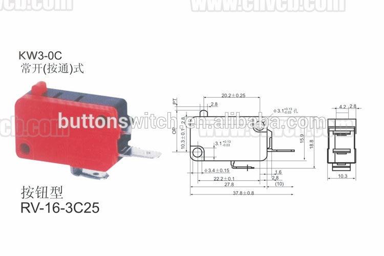 2-YT KW3-0C ABS пластик 15A/250VAC RoHS предел и микро переключатель модель/сенсорная мышь микропереключатель смотреть на Алиэкспресс Иркутск в рублях