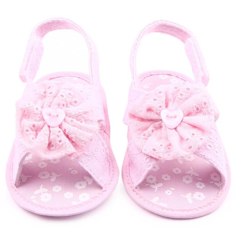 Beautiful Flower Design 5 Colors Cotton Newborn Infant Baby Girl Sandals Shoes 0-15 Months