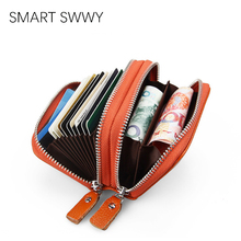 2019 Genuine Leather Women Wallet And card holder Coin Purses Female Small Portomonee Rfid Wallet Lady Purse For Girls Money Bag kavis genuine leather women wallet purse coin female portomonee walet lady long handy money card holder clutch gift for girls