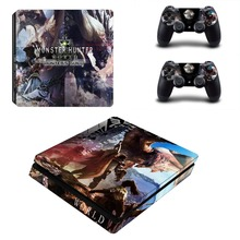 Monster Hunter World MHW PS4 Slim Skin Sticker