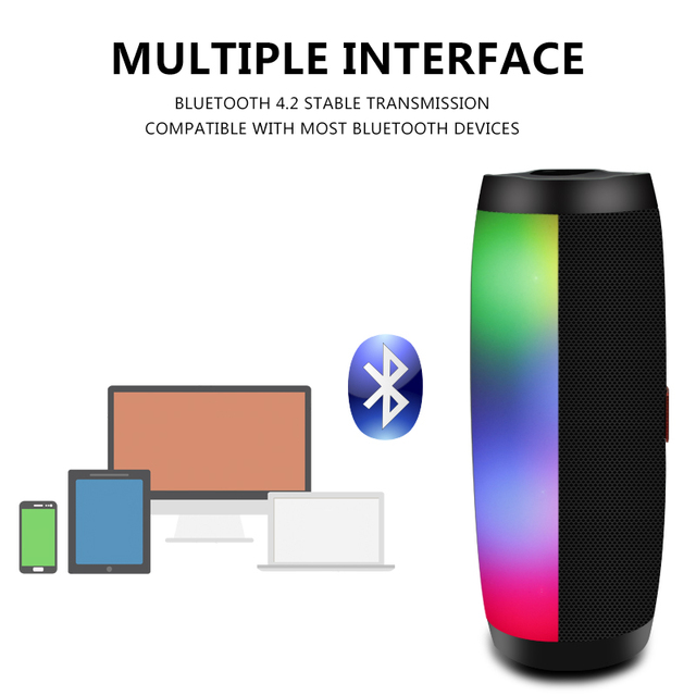 Wireless Bluetooth Speaker LED 5