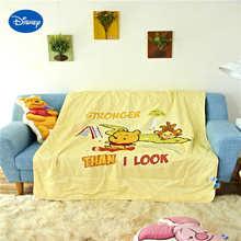 Хлопковые стеганые одеяла с Винни-пухом, постельное белье с принтом героев Диснея, 120*150 см, детская кроватка для девочек, детская кроватка, Декор, желтый цвет