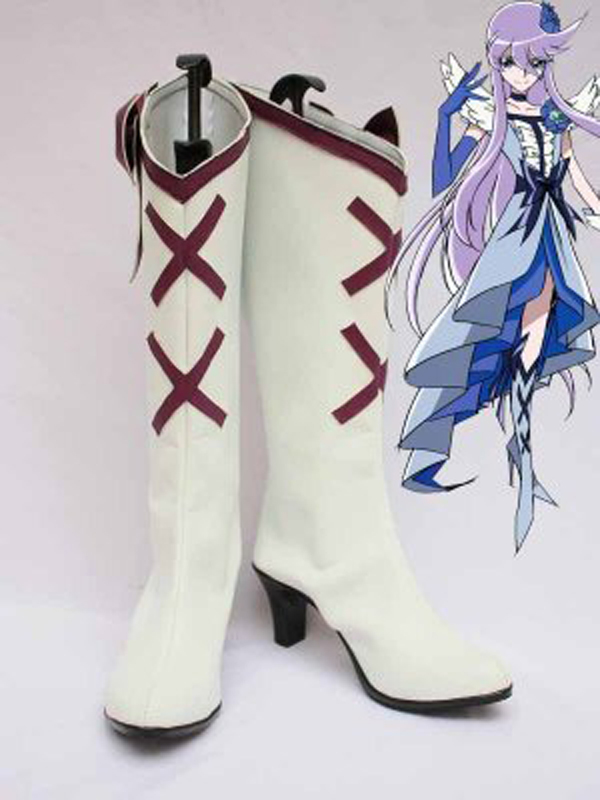 Pretty Cure Cure Moonlight White Cosplay Boots Shoes Anime Party Cosplay Boots Custom Made for Adult Women High Heel Shoes