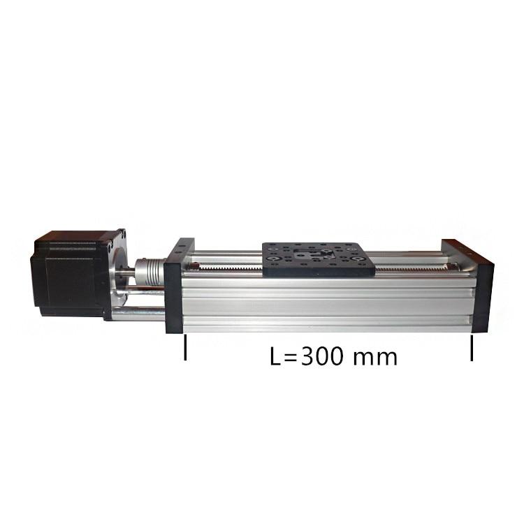 Sliding table 300mm T8 screw nema23 stepper motor linear actuator bundle lead 2mm 4mm 8mm