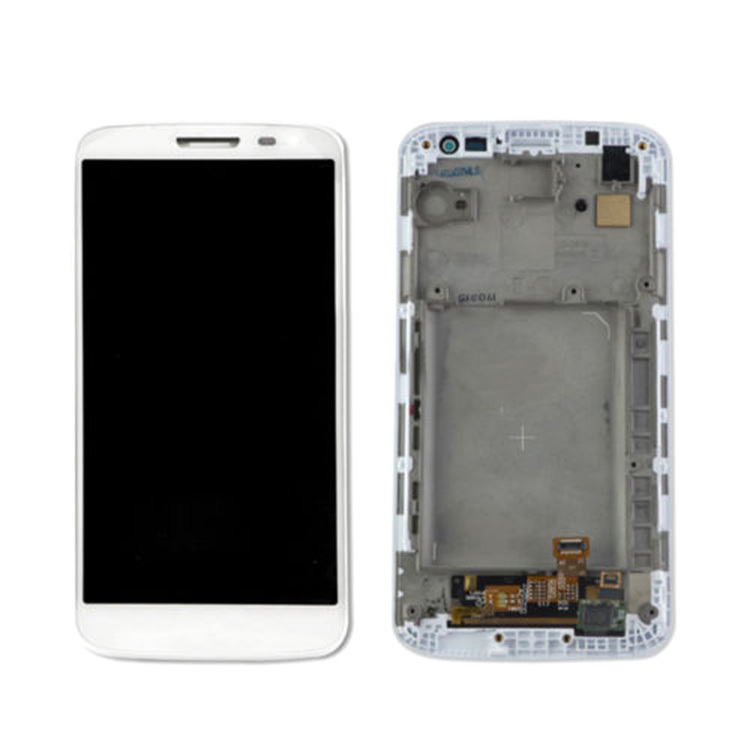 ФОТО White LCD Touch Screen Digtizer Lens Assembly+Frame Replacement High Quality For LG G2 Mini D620 D618 D621 D625