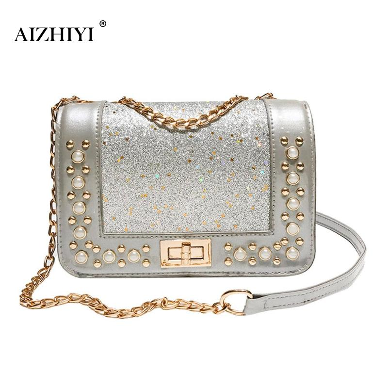896236f05dd4 Fashion Shining Sequins Pearls PU Shoulder Handbags Bag Clutch Purse for  Girls Handbag Bag Purse Beach Casual Designer Bags