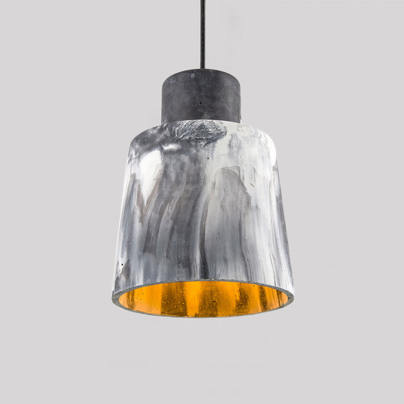 Nordic loft retro industrial wind cement pendant light restaurant coffee shop hot pot bar resin single head small pendant lamp nordic retro industrial wind restaurant