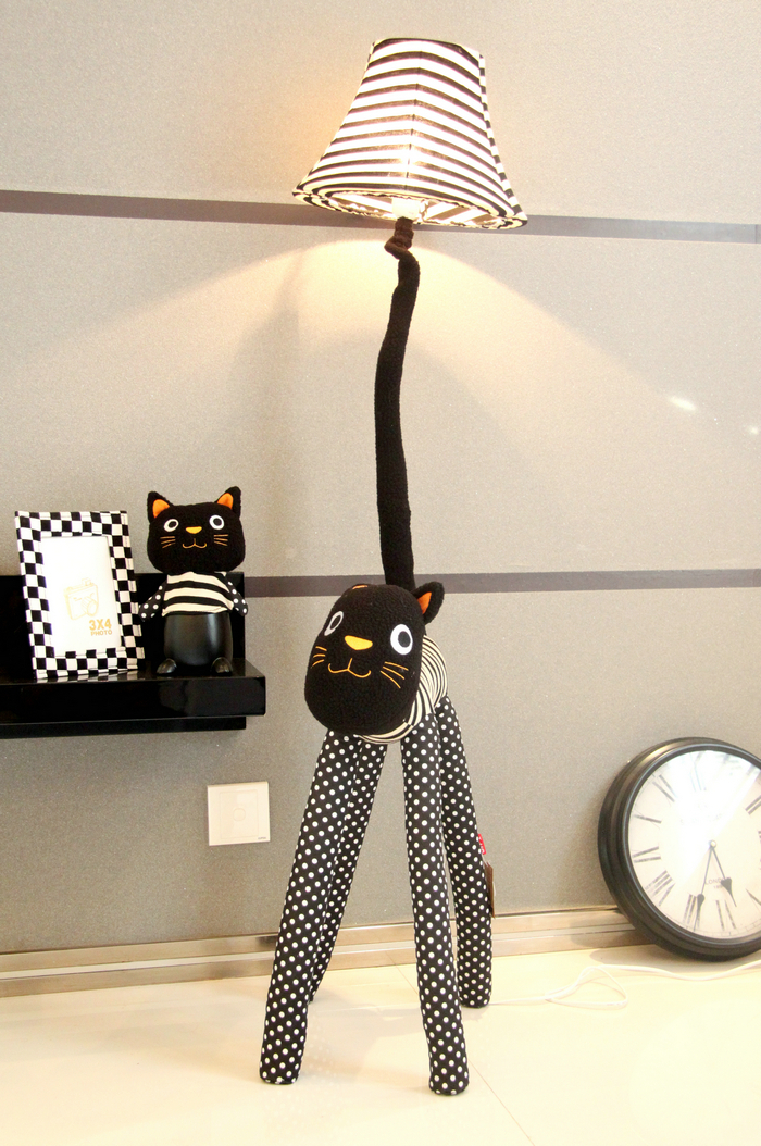 Christmas gift hall floor lamp for living room children room floor christmas gift hall floor lamp for living room children room floor light canvas fabric strip cat feet adjustable stand lamp in floor lamps from lights aloadofball Choice Image