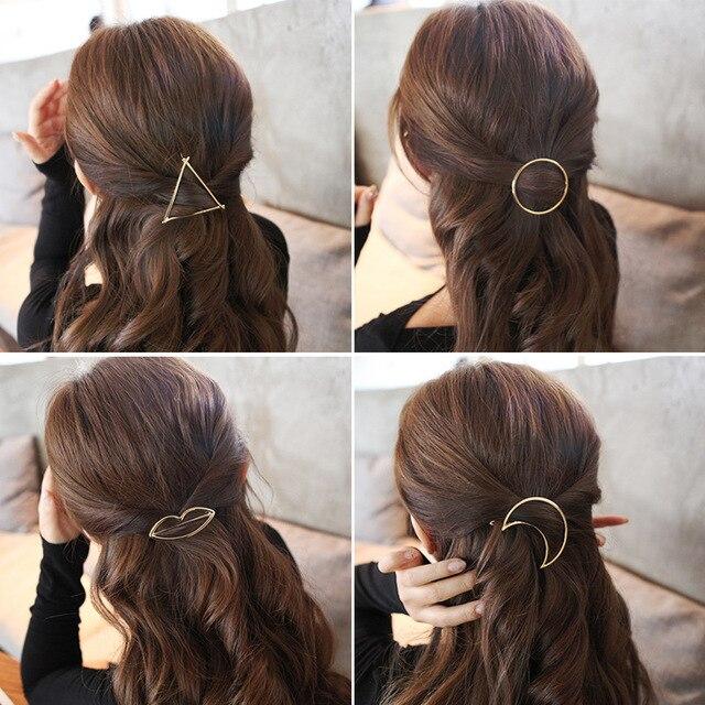Metall Pferdeschwanz Halter Mit Verschiedenen Form Haarspangen Frauen Haar Zubehor Fur Eine Halbe Up Frisur
