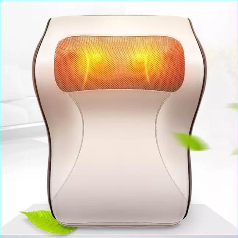 Electric Neck Cervical Waist Shoulder Back Pulse Shiatsu Massage Pillow car back neck massage