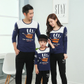 Palm Print Autumn Sweatshirt Dad Boy Mother Daughter Family Matching Clothing Family Set Women Navy Fall SweatShirt Kid Tee YY12