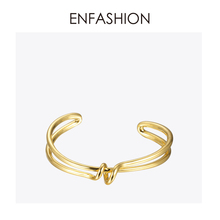 Enfashion Knot Cuff Bracelet Manchette Armband Gold color Loop Line Bangle Bracelet For Women Bracelets Bangles Pulseiras B8782