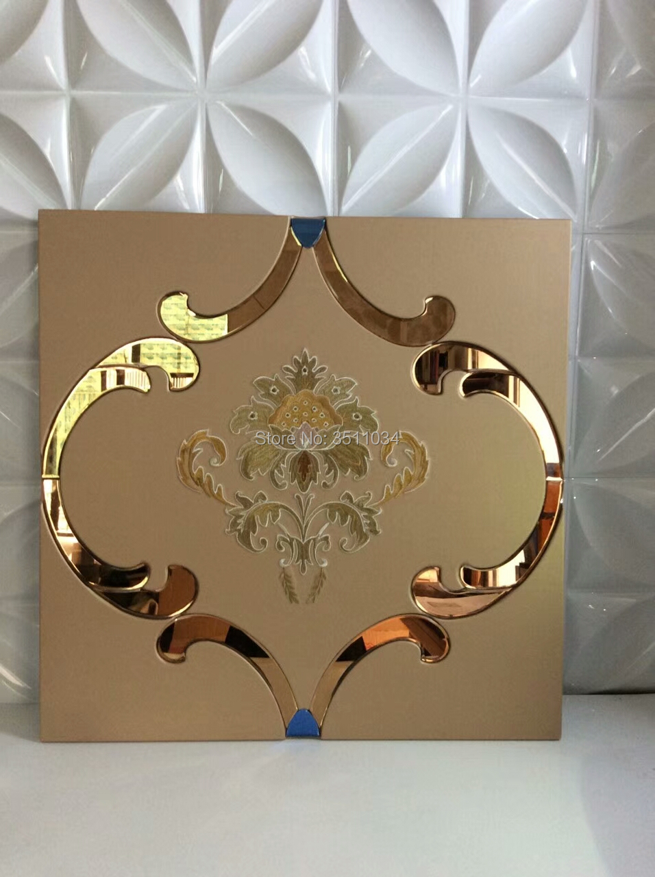 Embroidery Leather wall panel, Sound Asorption leather foam wall padding D 120 nightclub wall panels Leather carving panel