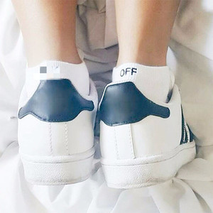 Cotton Solid Letters Short Ankle Socks F Off Comfortable Breathable Sweat absorption Casual Pattern Men Socks Hot sale(China)