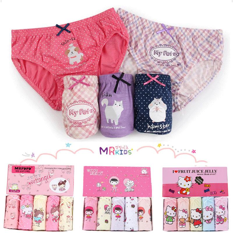 Kids Baby Girls Underwear Panties For Children Underpants Calcinhas Infantil Toddler Girl Briefs Teenage Cartoon Cotton Knickers