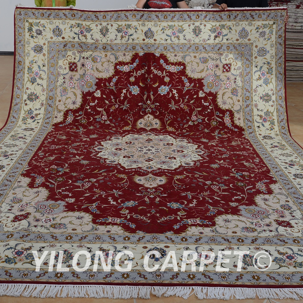 Yilong 9 X12 Turkish Wool Silk Carpets