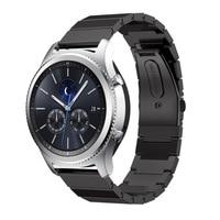 Montre En Acier inoxydable Bande Standard 22mm large connexion Pour Samsung vitesse S3 Classique Frontière Smart Watch de Courroie De Bande pour les engins s3