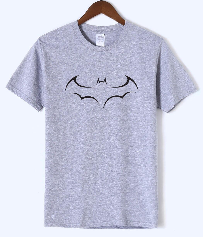 Simple Tshirt Bat 2018 Summer Tops Casual Fashion Men's T Shirts 100% Cotton Streetwear High Quality T Shirt Men O-neck Short