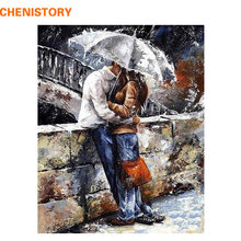 CHENISTORY romatic lover DIY Painting By Numbers Home Art Wall Figure Pictures For Living Room Modern Decoration Picture Artwork(China)