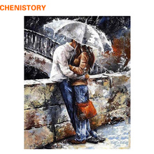 CHENISTORY romatic lover DIY Painting By Numbers Home Art Wall Figure Pictures For Living Room Modern Decoration Picture Artwork