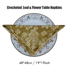 6pcs/lot Top Grade 48*48cm Square Folding Cloth For Hotel Restaurant Party Home Polyester Handkerchief Table Napkin Washable(China)