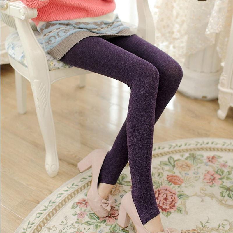 Winter Woolen Warm Cashmere Fashion Colorful Leggings for Women Alpaca Female Comfortable Leggings Pants Trousers