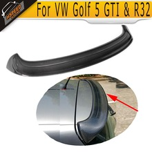 High Quality Real Carbon Fiber Roof spoiler for Golf 5 GTI ABT Style Rear Spoiler real carbon propeller for top 80 paramotor good quality