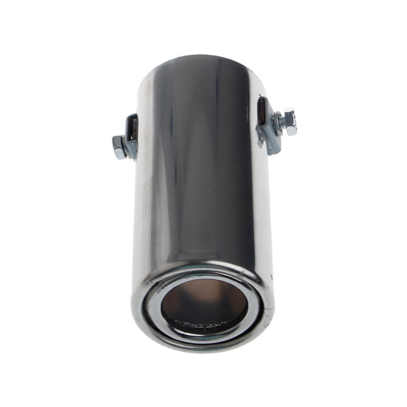 Universal Stainless Steel Car Rear Round Exhaust Pipe Tail Throat Muffler Tip
