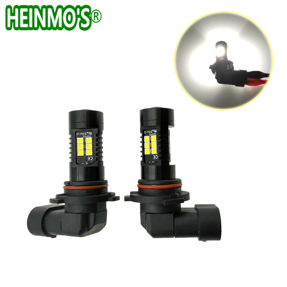 2pcs 9006 HB4 LED Car Fog Lights H11 H8 LED Bulbs 9005 HB3 H7 White Driving Lamp Daytime Running Lights DRL 6000K 12V 1200Lm