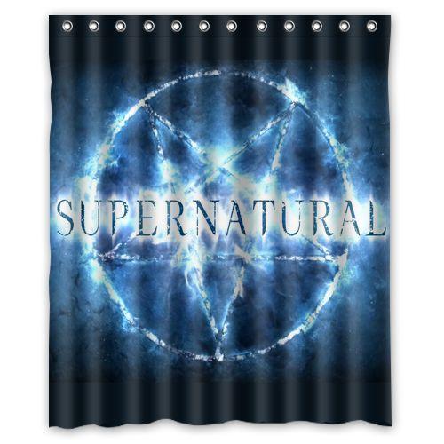 New Supernatural custom Shower Curtain Bathroom decor Free ...